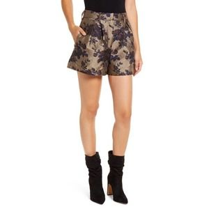 BLANKNYC Floral Pleated Brocade Shorts Size 24